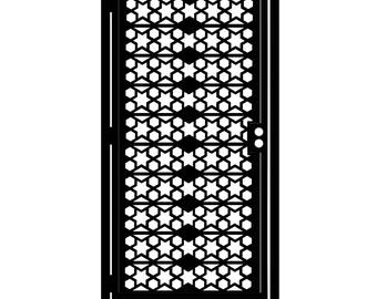 Artistic Metal Gate - Decorative Steel - Star Tile - Geometric Gate - Steel Panel Art - Outdoor Gate - Metal Art - Star Gate