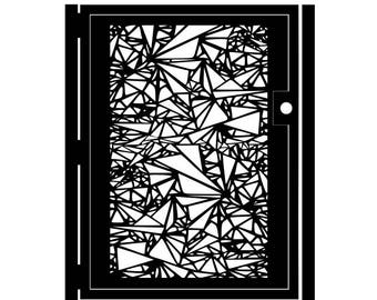 Geometric Metal Art Gate - Decorative Steel - Shattered - Geometric Driveway Gate - Geometric Garden Gate - Custom Gate - Triangle Gate Art