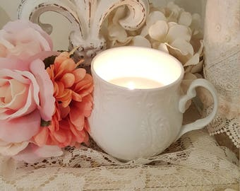 Romantic Candle in a Teacup