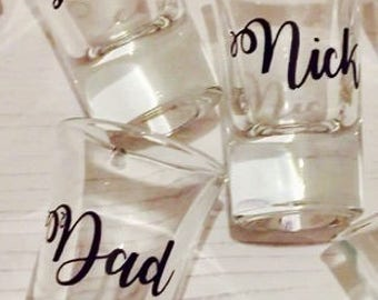 Personalised Shot Glasses - Groomsman, Best Man, Stag Party Gifts