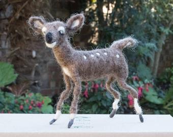 Needle Felted Baby Roe Deer - Sculpture by BevsHeartFelts