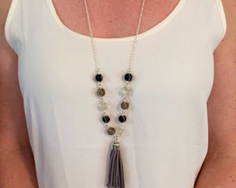 Tasseled and Charmed Necklace