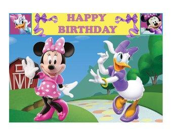 minnie mouse printable backdrop/wallpaper/minnie mouse backdrop/minnie printable/minnie mouse birthday decoration/minnie mouse theme/minnie