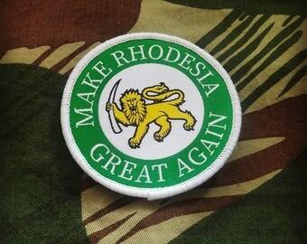Rhodesian Military morale patch, Make Rhodesia Great Again!
