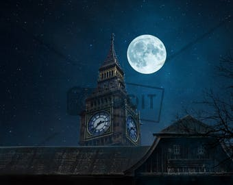 Peter Pan Digital Background - Disney Inspired - Digital Background - Flying - Digital Backdrop