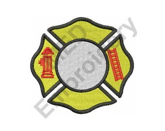 Fire Department Logo - Machine Embroidery Design, Maltese Cross