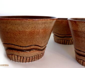 Speckled Yellow & Brown Bowls