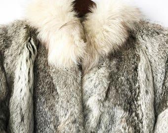 70s 80s Fur Jacket, Perfect Vintage Fur Jacket, Size Small