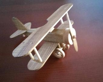 wood biplane 1