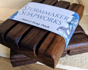 Hardwood Soap Deck, All Natural Soap Dish