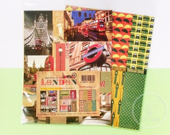 3 Sheets - Vintage City Stickers (London) - Planner, Journal, Scrapbook