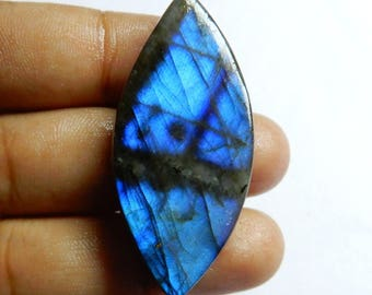 Amazing Quality Natural Labradorite Marquise Cabochon 42x20x8 MM Size AAA+++ Quality Blue Flash 56.00ct Marquise Shape For Jewellery TO1