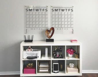 Acrylic Calendar, Wall Calendar, Dry Erase Calendar, Acrylic Wall Calendar, Wall Calendars, Large Wall Calendar