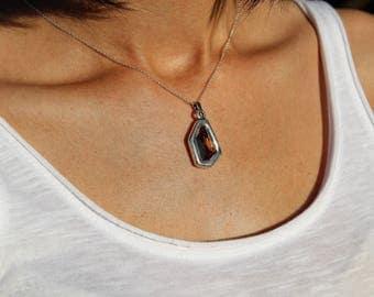 Drop Necklace, Swarovski Necklace, Minimalist Necklace, Dainty Necklace,Sterling Silver Necklace, Silver Necklace, Swarovski Jewelry,