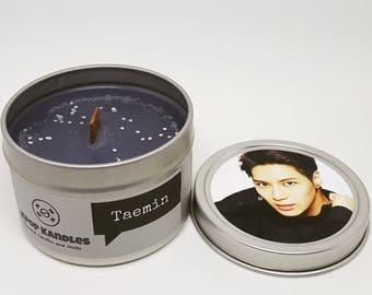 Taemin- 4OZ- Scented Candle- Shinee- Kpop- Kpop Candle- Wood Wick Candle- Shinee Gifts- Kpop Gifts- Hallyu- Korean