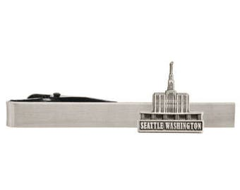 Seattle Washington Silver or Gold Tie Bar