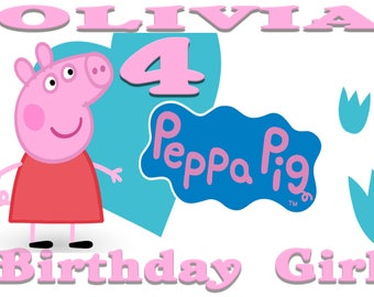 Peppa Pig Birthday Iron On Transfer, Digital Delivery, DIY, Iron On, Printable, Birthday Party, Transfer Design, Digital File