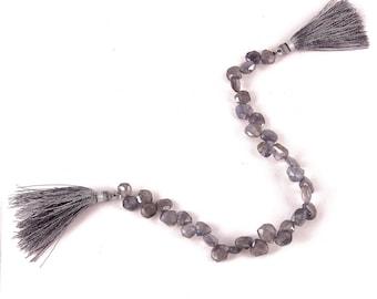 Iolite drop shape beads 8 Inch