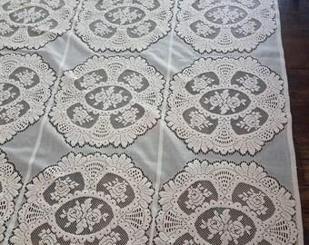 Ivory Lace Curtains Etsy