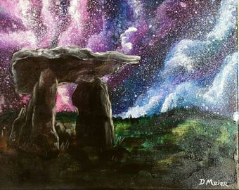 The Burren - a galaxy painting on museum-stretch deep canvas