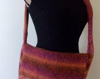 felted wool shoulder bag artisanal creation