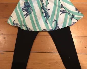 Skirted leggings - dinosaur pattern skirt