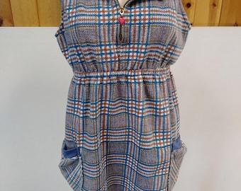 Scroyobook 1970's Shift Vintage Dress
