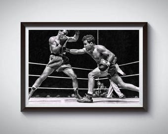 Boxing Fighting Inspired Art Poster Painting Print 2