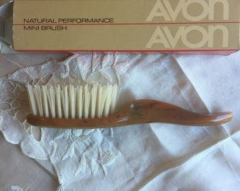 Sale!NIB Vintage Avon Natural Performance Mini Brush, caramel brown, 1982