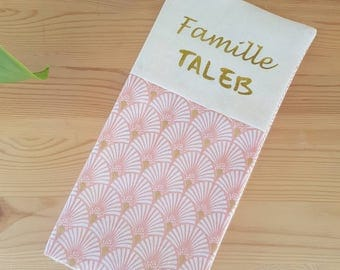 Protects family rose gold plated Palm tree book