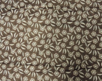 Camelot Fabrics bottom Brown pattern fabric flowers