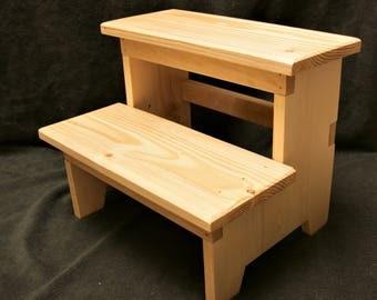 Wood Step Stool, Kitchen Step Stool, Kids Step Stool, Sturdy Step Stool,
