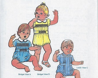 Children's Corner Sewing Pattern #53 / BABY BUBBLES / Size 18 - 24 mos