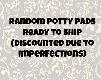 Imperfect* ready to ship fleece potty pads with two layers of U-Haul for guinea pigs, rats, chinchillas, and other small animal cages
