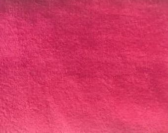 Vintage Hot PInk Terry Cloth Fabric