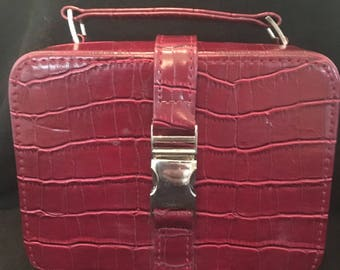 Faux Leather Vintage Travel Jewelry Case Case