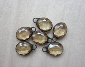 Hand Soldered Medium Oval Crystal