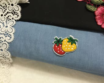 Yellow and red strawberry patch/iron on patch/fruit patch/embroidered oatch /cute patch/jeans patch /DIY