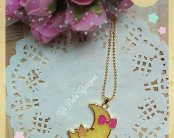 Necklace Moon Pendant