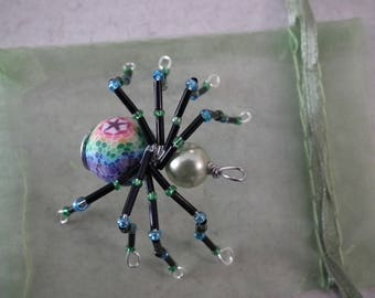 Beaded Bug Pin