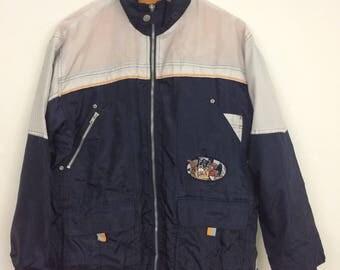 Vintage 90s Looney Tunes Tasmanian Devil Zipped Jacket Size L