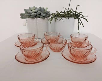all cups espresso seventies pink ARCOROC ROSALINE service