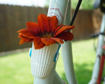 Bicycle Planter - 3D Printed White