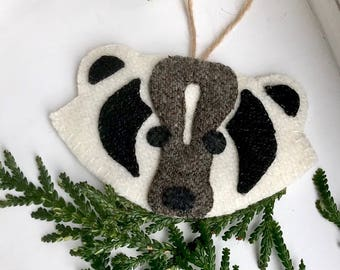 Woodland Badger - Farmhouse Animal Ornament - Forest Friend Nursery - Forest Badger - Badger Ornament - Gift for Friend - Animal Gift