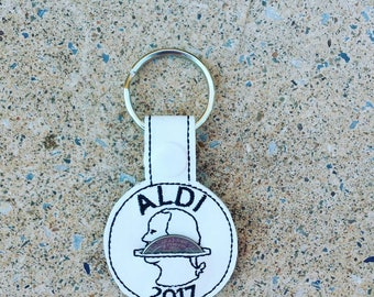 Aldi's Quarter Holder Keychain