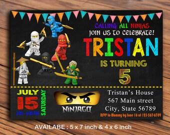 Ninjago Invitation / Ninjago Invitations / Ninjago Invite / Lego Ninjago Birthday Invitation / Lego Ninjago Invitation
