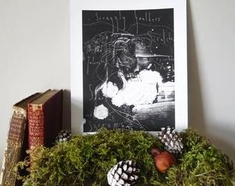 VASILISA | Monotype Folklore Print | Nightmare