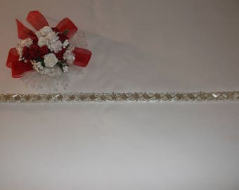 Silver Long/Short Beaded Trim