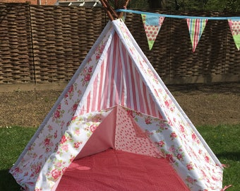 Children's Canvas Teepee - Rosebud