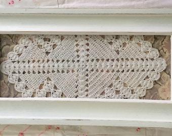 Framed Antique Crocheted Doily